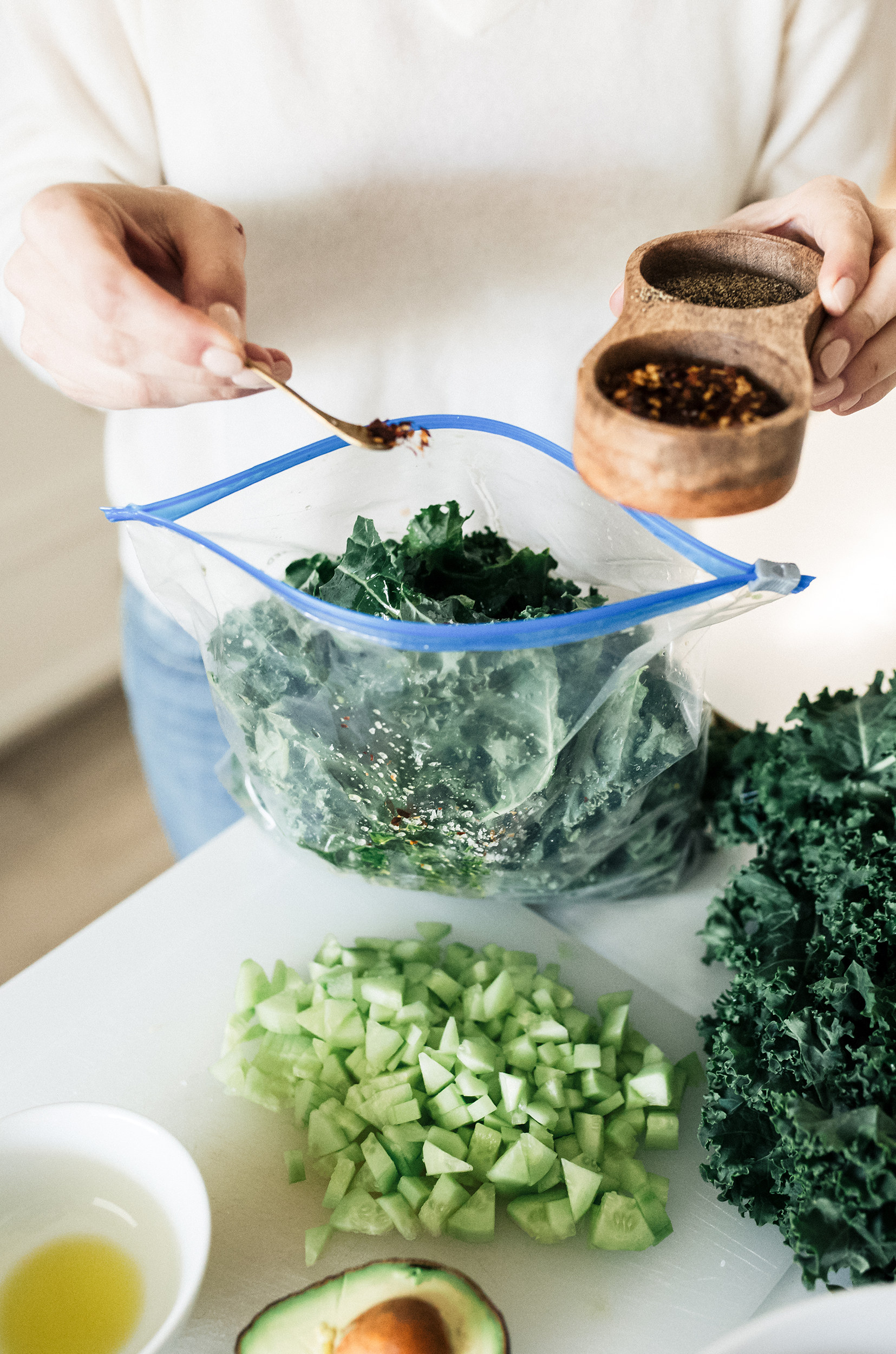 Kale Salad Recipe by Cooking With Confetti