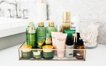 Morning beauty routine skincare products: Cooking With Confetti