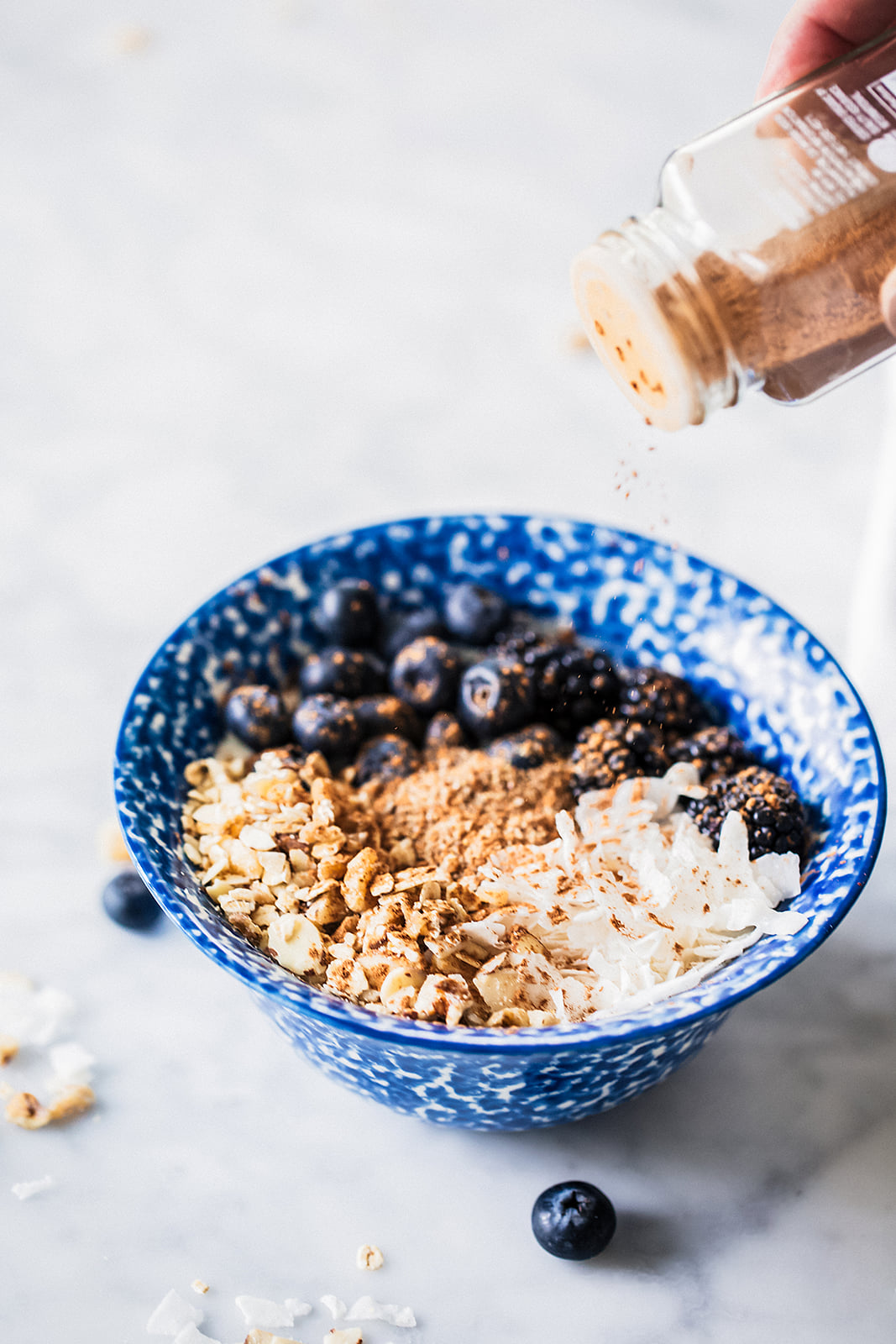No Processed Sugar: Granola Bowl Topped With Cinnamon
