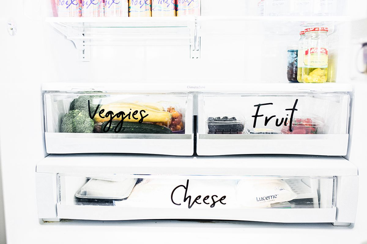 Refrigerator Drawer Labels