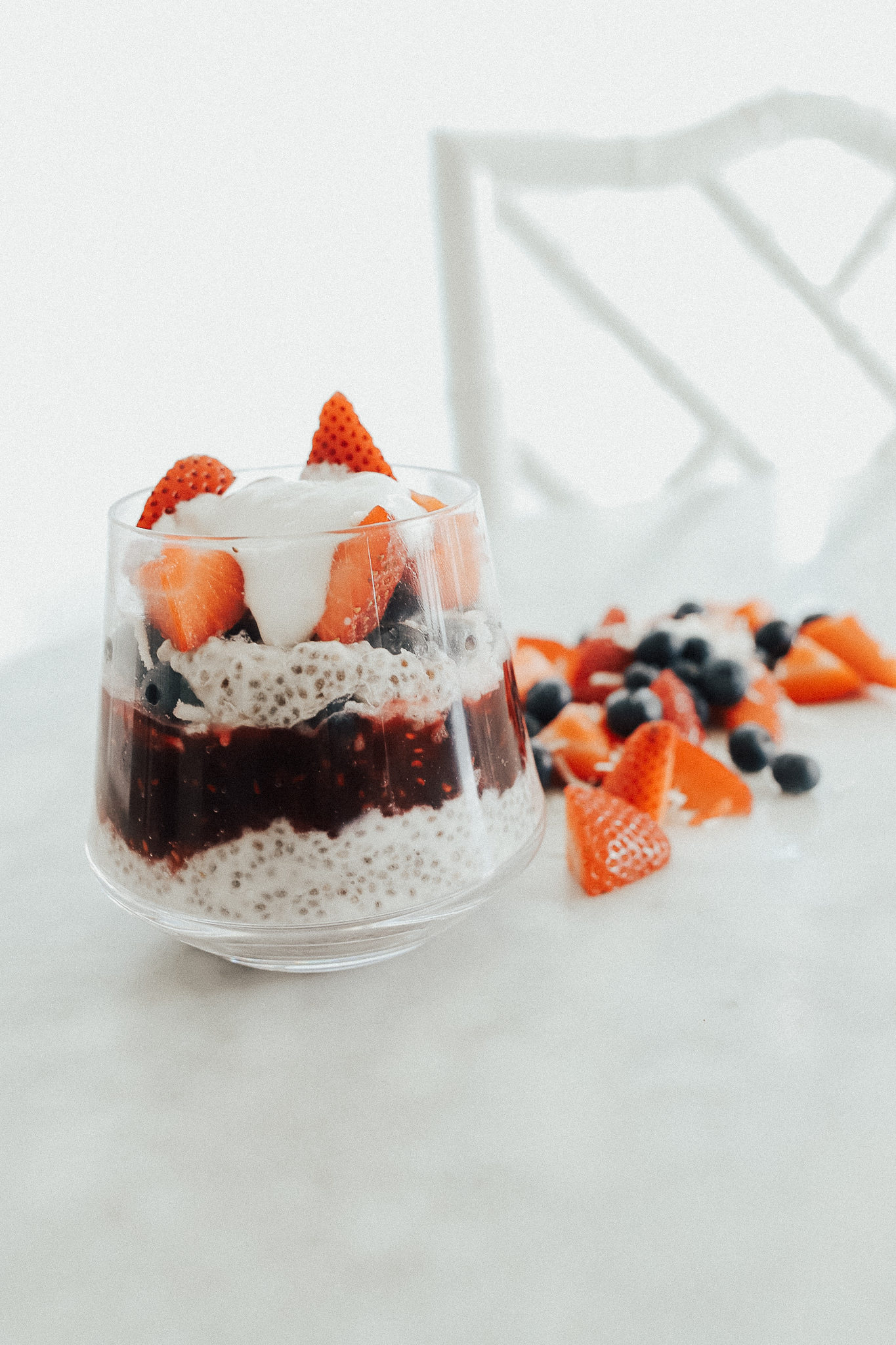 Berry & Coconut Chia Seed Pudding - Cooking with Confetti