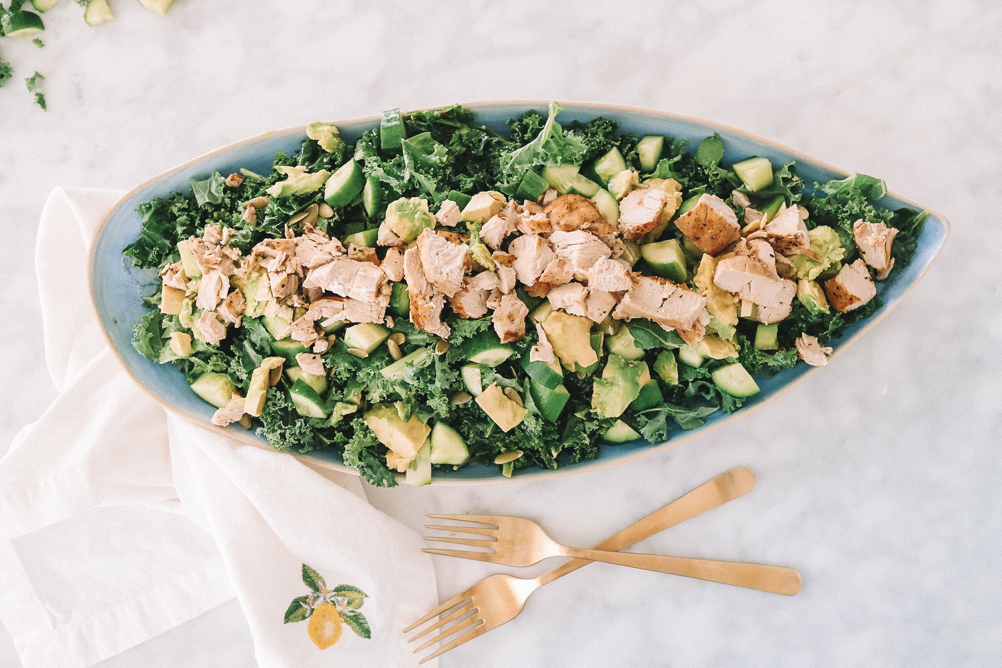 Kale Salad with Chicken