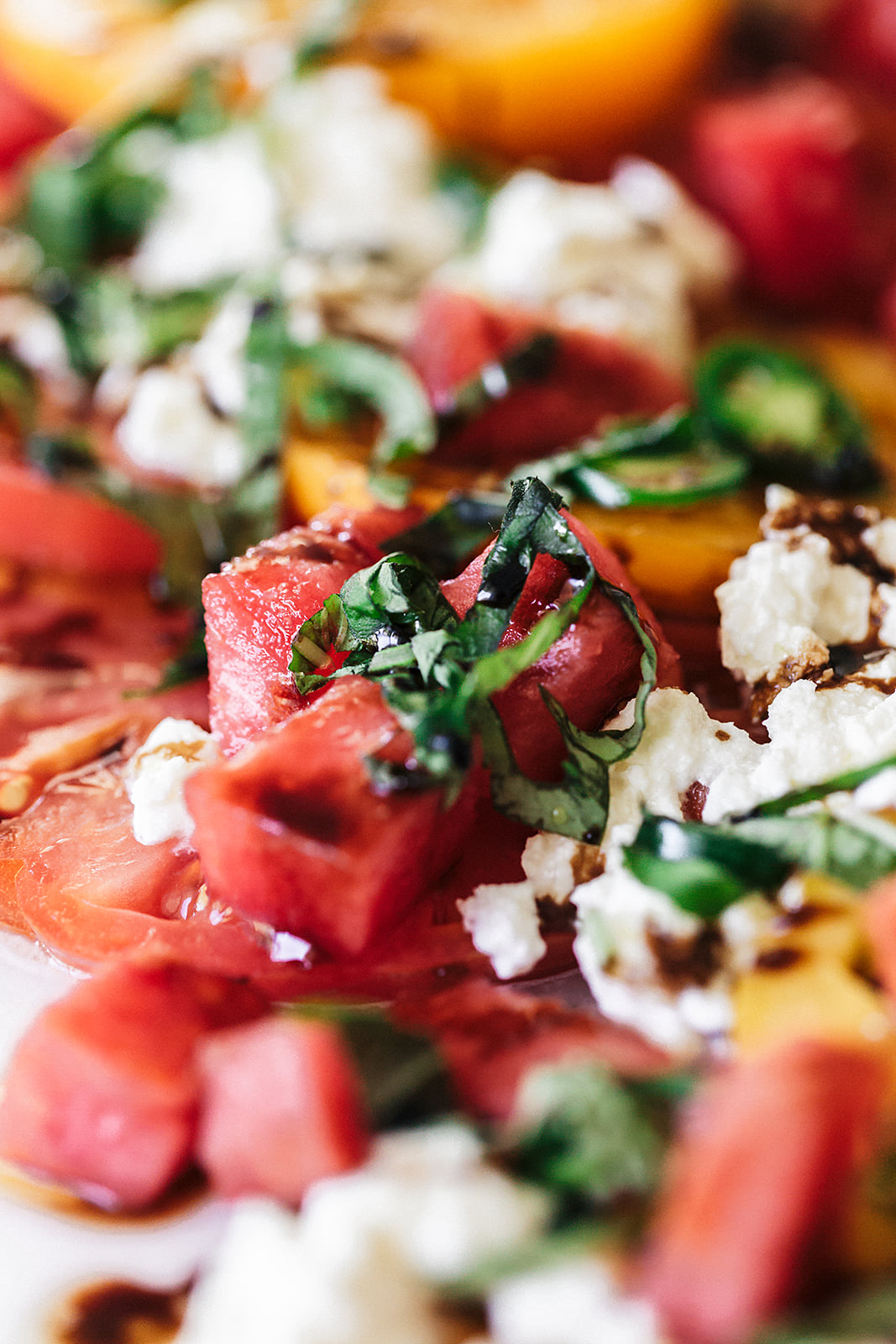 Tomato and Burrata Summer Salad | Cooking with Confetti