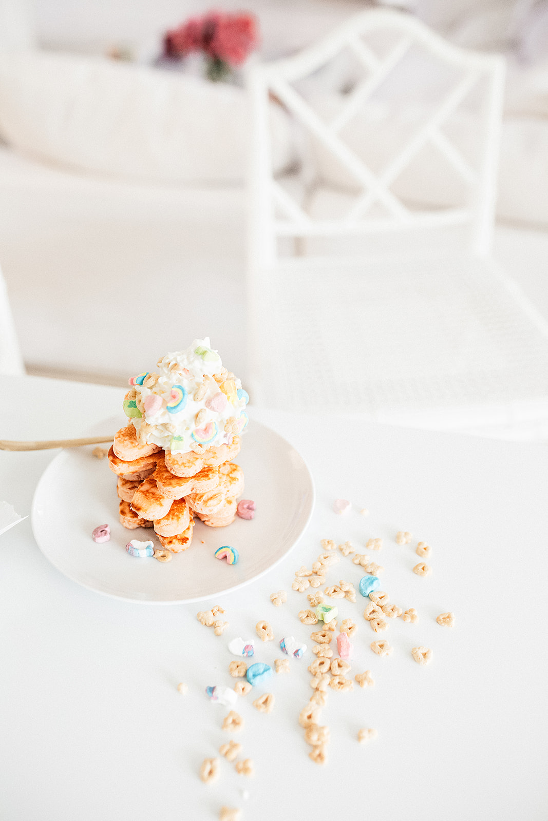 Shamrock Pancakes by Cooking With Confetti