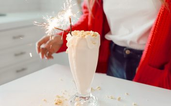 Girl Scout Cookie Milk Shake!