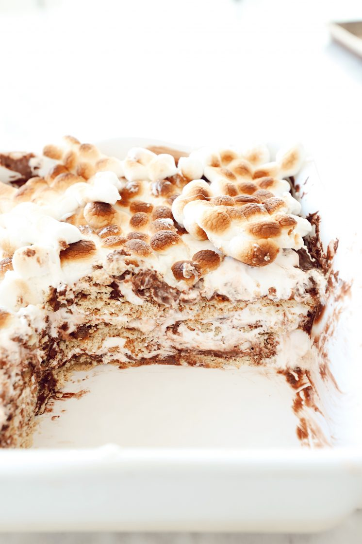 No Bake Smores Icebox Cake