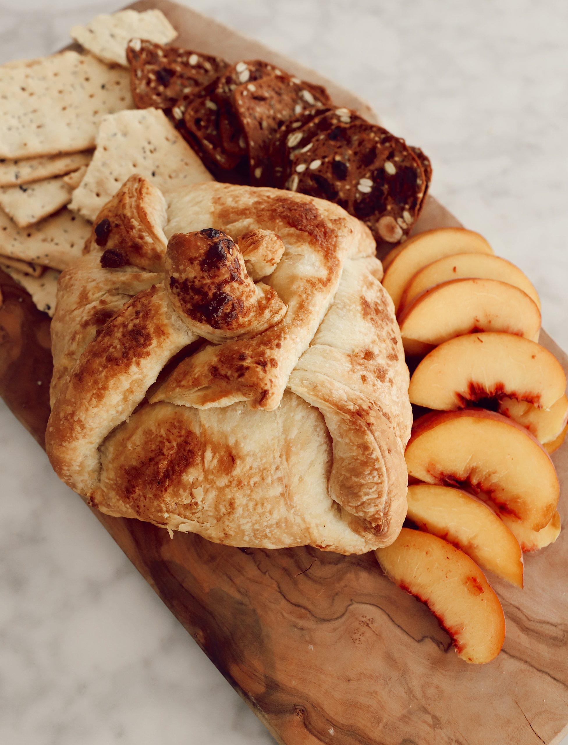 Baked Brie with Peaches
